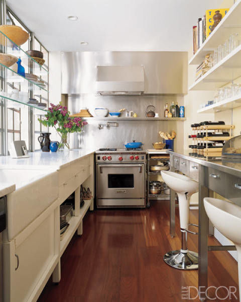 30 small kitchen design ideas decorating tiny kitchens for Kitchen designs for small kitchen