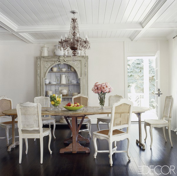 Dining Rooms From Elle Decor: 9 Rustic Farmhouse Tables That Will Instantly Update Your