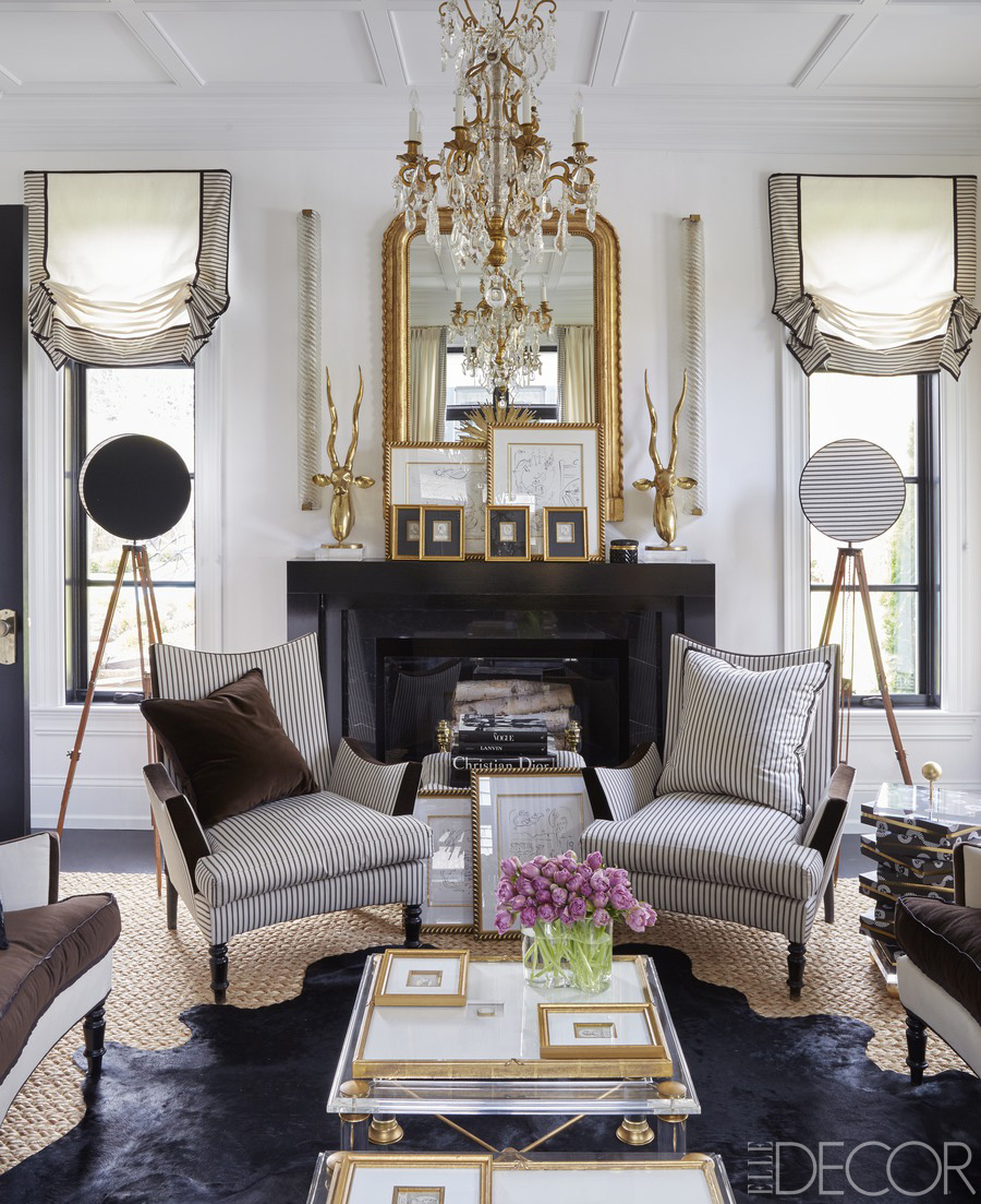 Black And Gold Living Room Images: Designer Megan Winters Lake Forest Home Tour