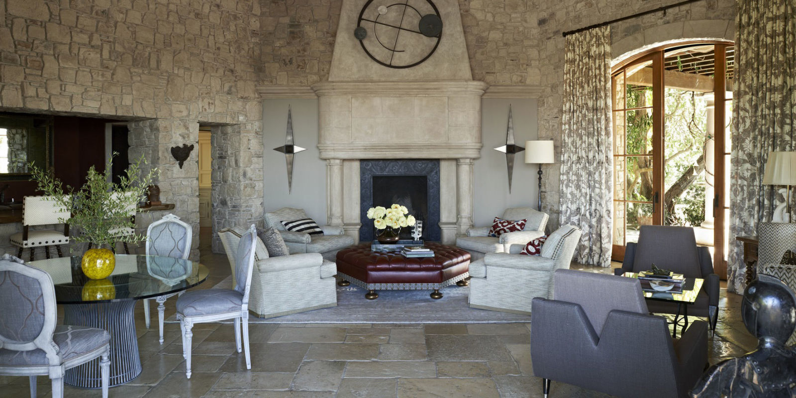 inside a stunning stone home in bel air california