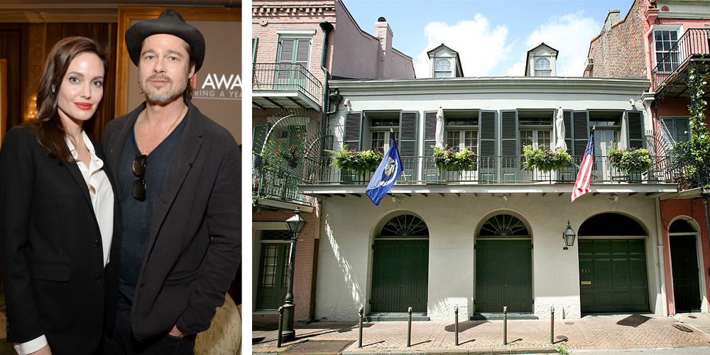 brad pitt and angelina jolie just put their new orleans mansion on the market. Black Bedroom Furniture Sets. Home Design Ideas