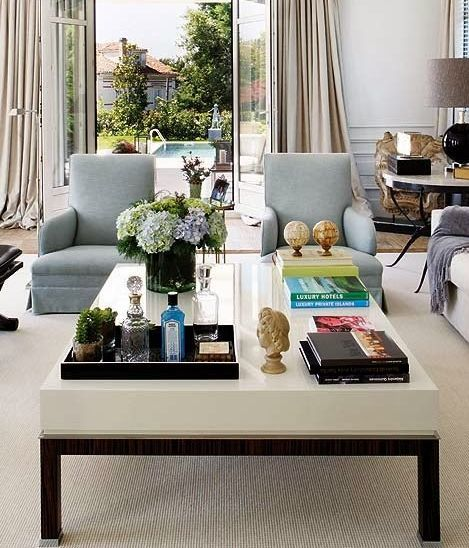 20 best coffee table styling ideas how to decorate a. Black Bedroom Furniture Sets. Home Design Ideas