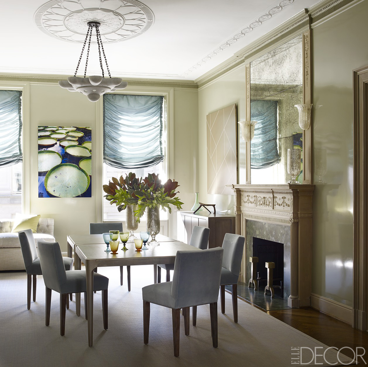 Dining Rooms From Elle Decor: A Historic Manhattan Apartment Gets A Spectacularly Modern