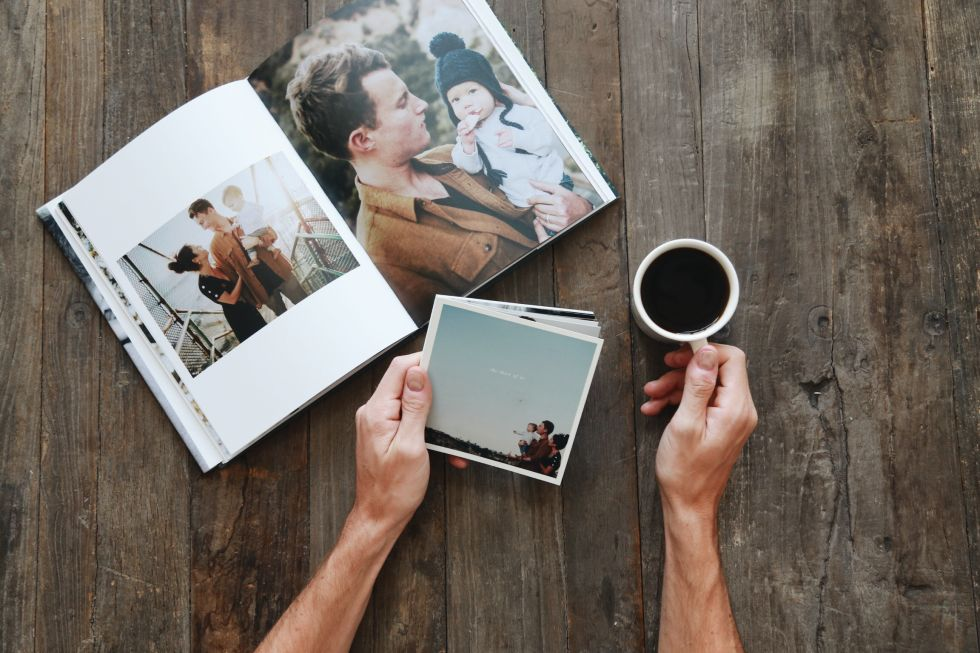 Photo books (like this custom, fabric-bound hardcover from Artifact Uprising) aren't just necessary for the sake of posterity, they're a key component of a stylish coffee table.
