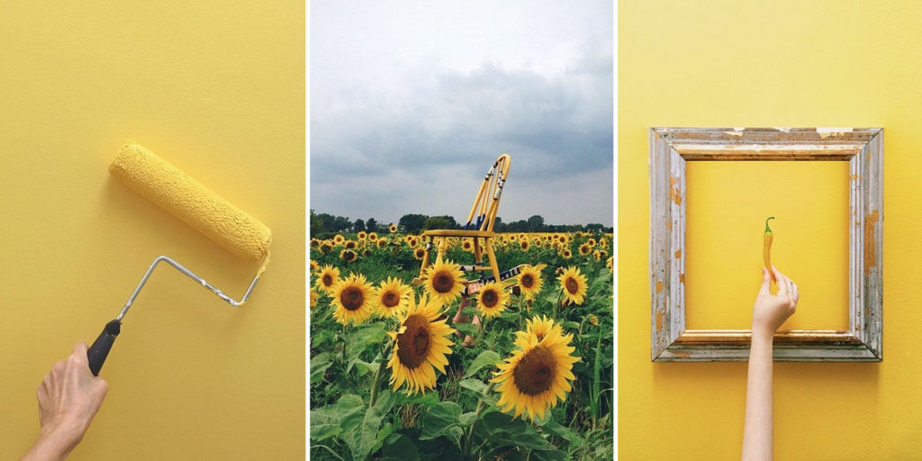 This instagram account will make you love the color yellow for Style at home instagram