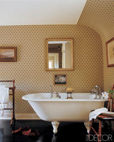 bathroom wallpaper ideas wall coverings for bathrooms elle decor