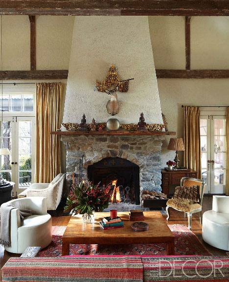 inside a classic connecticut country home winter getaway. Black Bedroom Furniture Sets. Home Design Ideas
