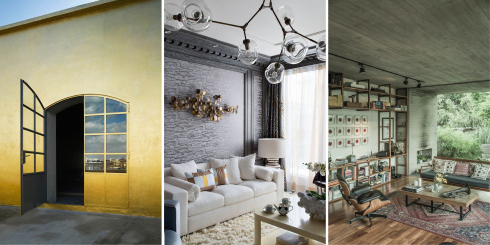 Home Design Trends view in gallery repurposed window panes used as a smart divider between the livinga nd the dining rooms These Are The Biggest Decorating Trends Around The Globe Right Now