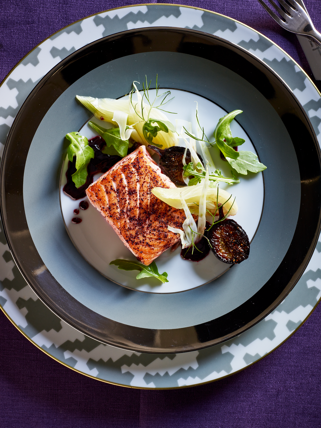 Recipe Salmon With Braised Fennel And Figs