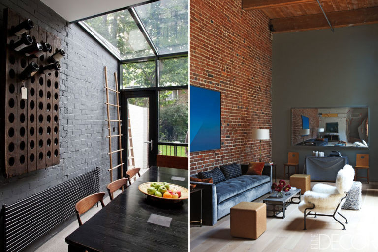 Paint Color Exposed Brick Wall E Wall Decal