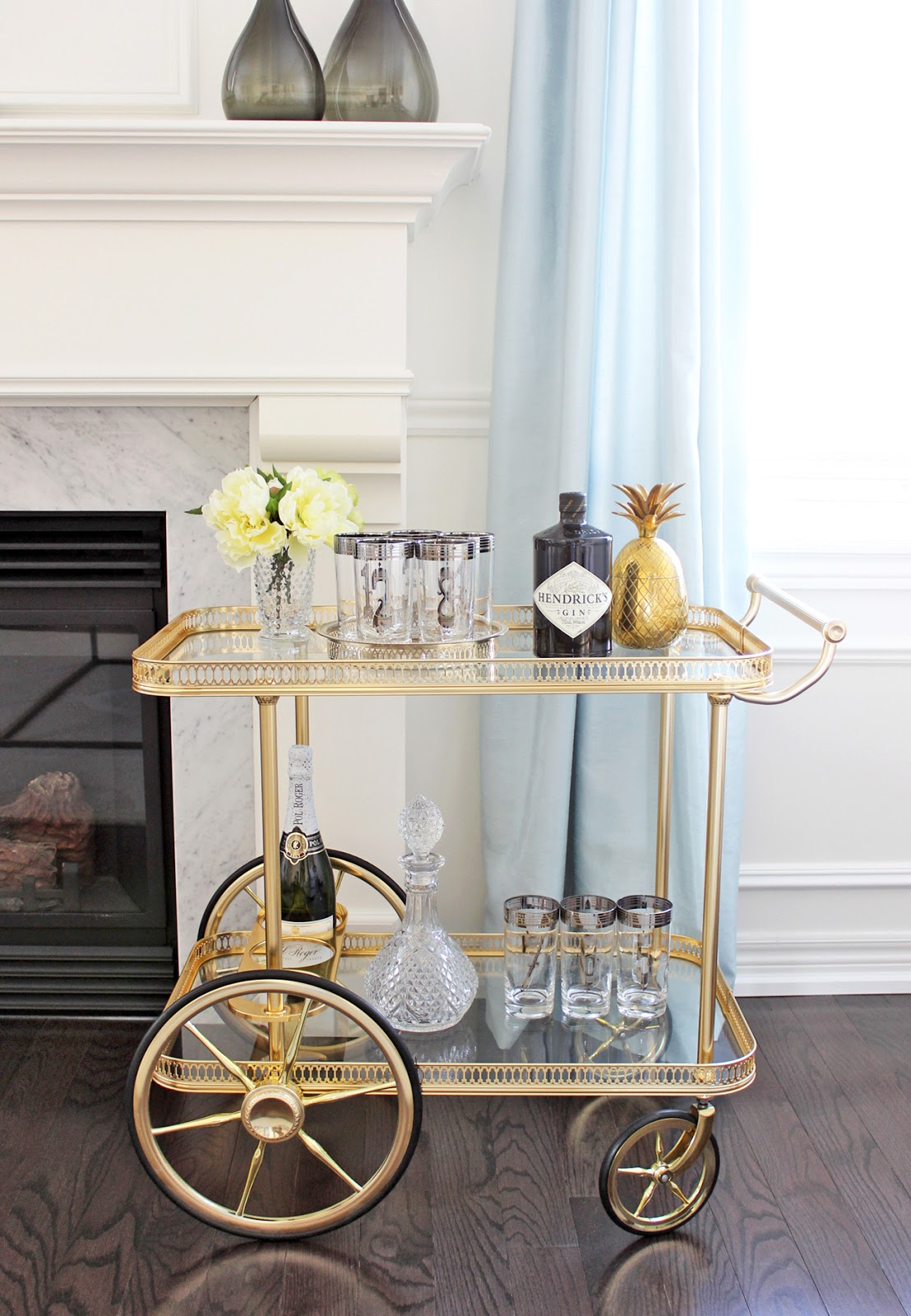 5 bar cart styling ideas how to style a bar cart - How to decorate a bar ...