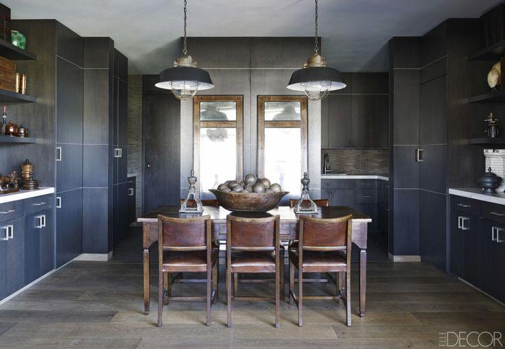 11 Black Kitchen Design Ideas Pictures Of Black Kitchens Elle Decor