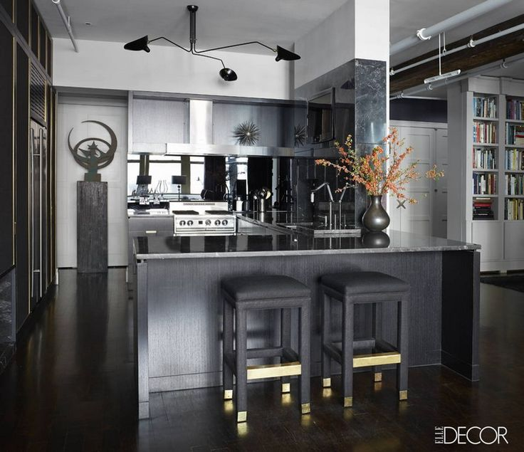 11 black kitchen design ideas pictures of black kitchens for Elle decor kitchen ideas