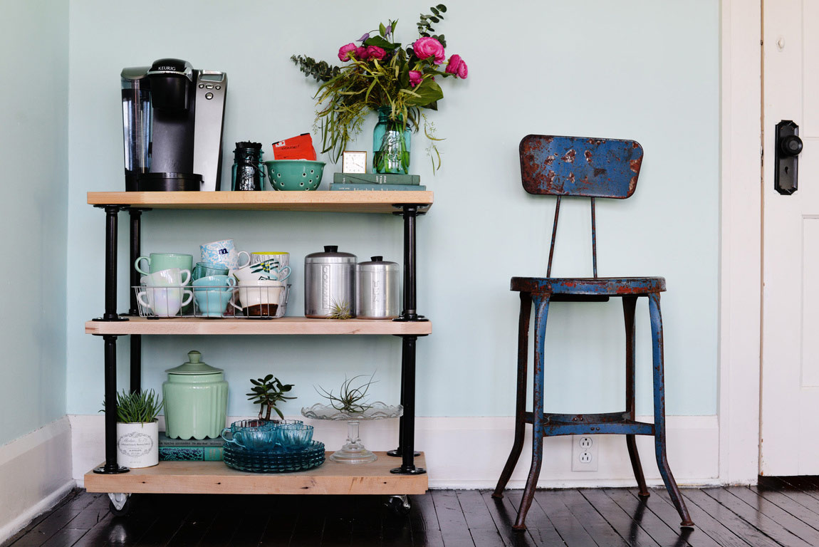 Coffee cart how to style a coffee bar for Coffee cart design