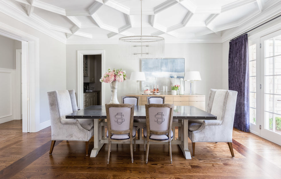 We are beyond ready for sit-down family meals to make a comeback, and thankfully, Houzz reports that more homeowners are opting to keep their formal dining rooms instead of converting them into media rooms or offices. Here's hoping they're all as stylish as the pale purple number here.