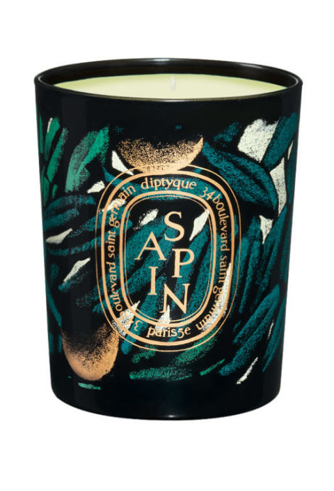 When it gets too frigid to enjoy Mother Nature's sweet scents, burning a woodsy candle is the next best thing.  Pictured here: Diptyque holiday candle in Sapin, from $35; diptyqueparis.com