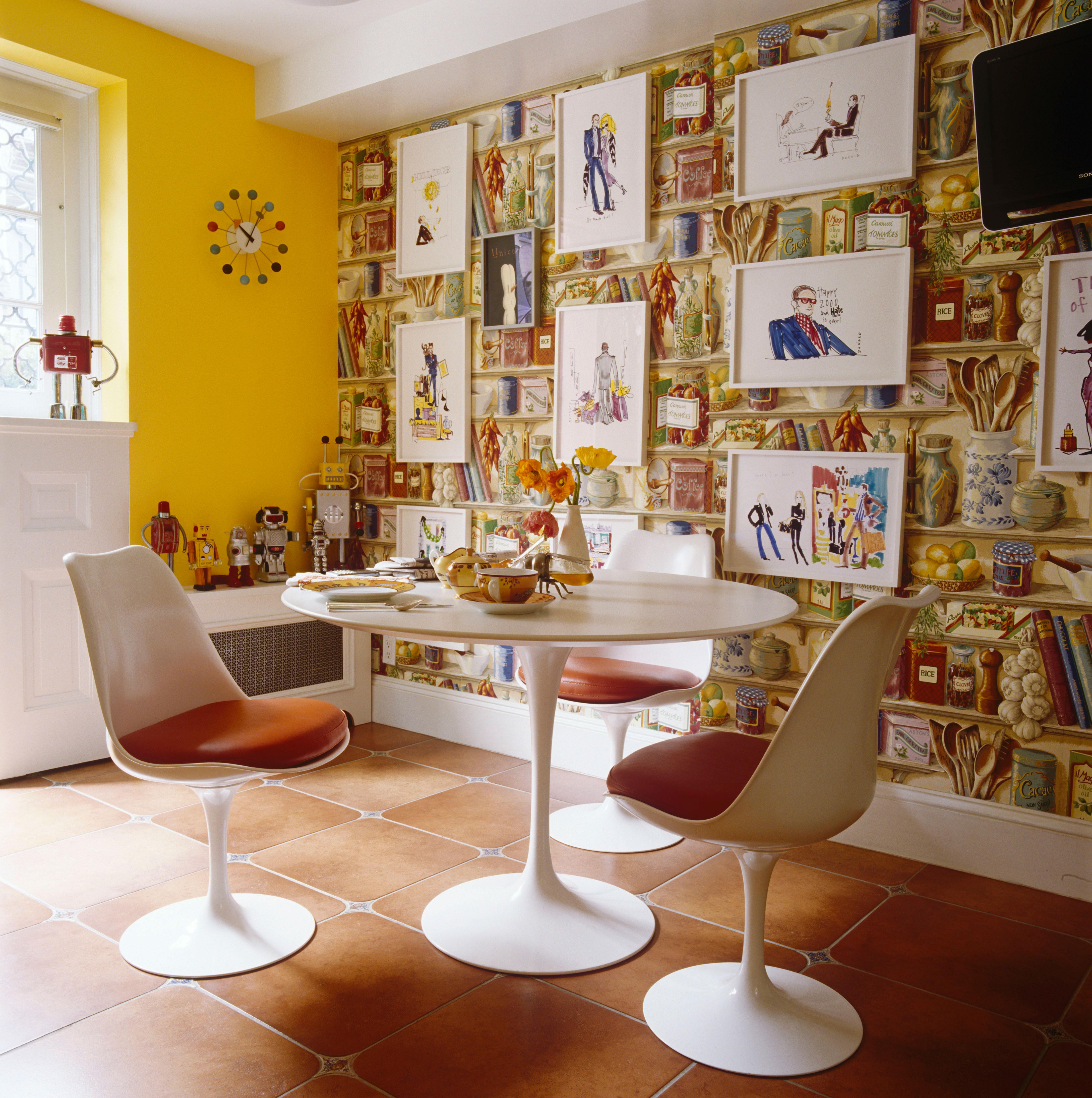 8 breakfast nooks kitchen table settings for Kitchen dining room wallpaper