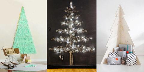 11 christmas tree alternatives best alternative ideas to for Elle decor christmas tree