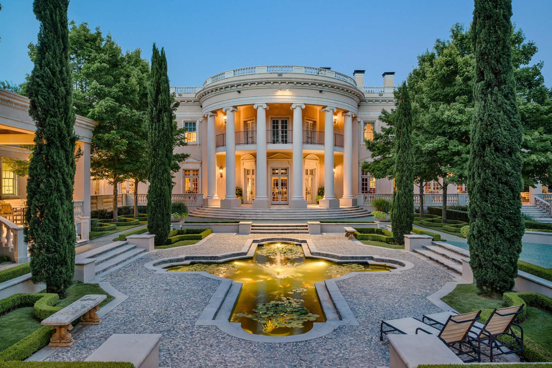 White House Style Mansion For Sale Dallas Texas White House