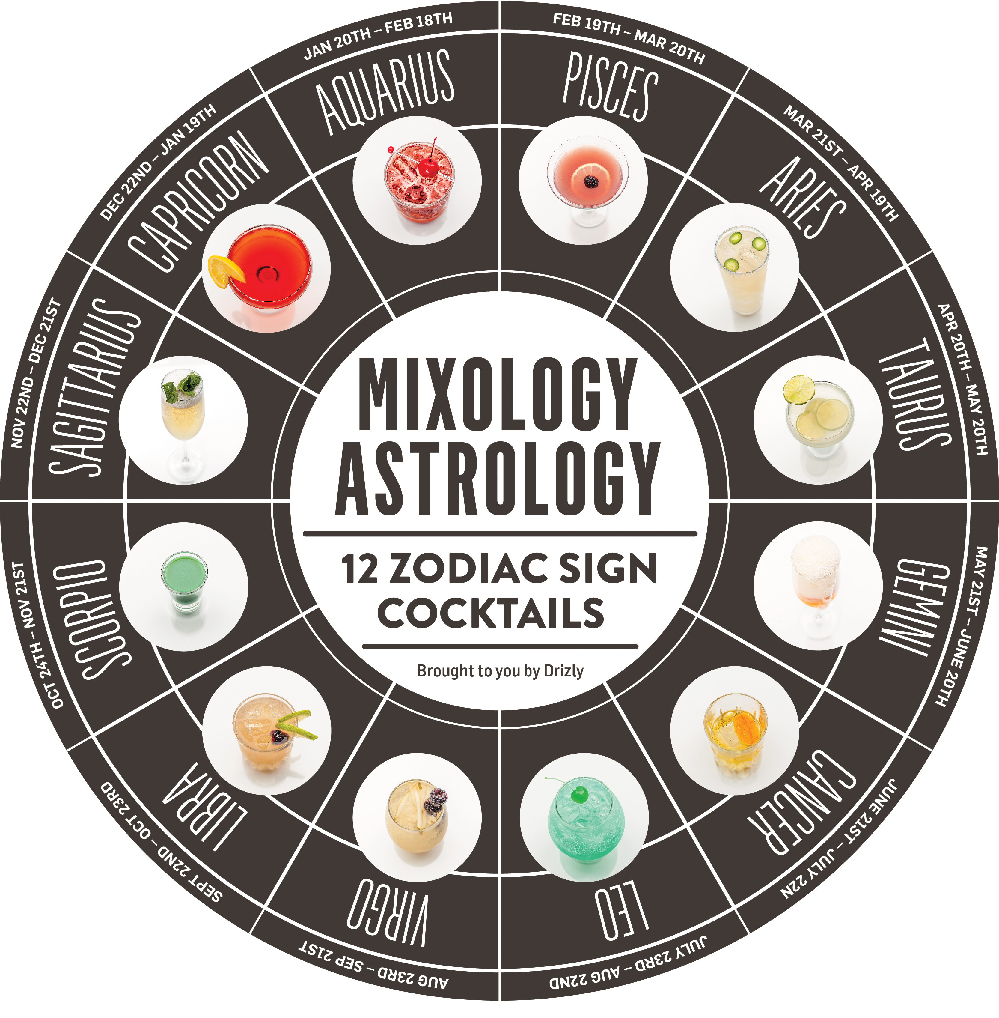 Best cocktail for your zodiac sign 2016 cocktails by for Zodiac signs astrology com