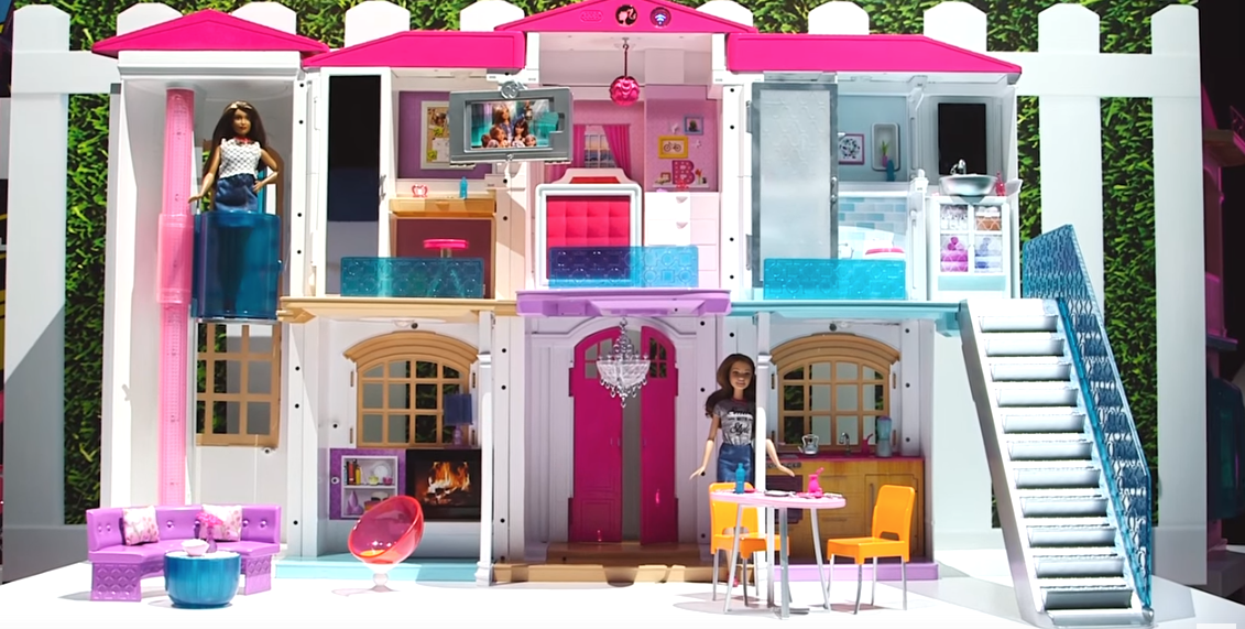 barbie dreamhouse high tech makeover hello dreamhouse barbie house. Black Bedroom Furniture Sets. Home Design Ideas