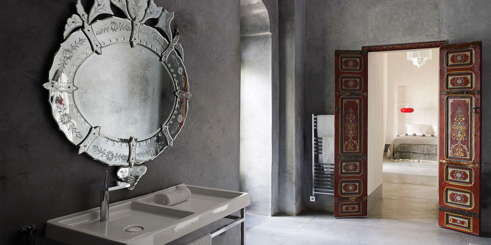 Landscape bathroom mirror