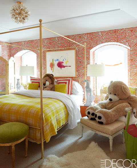 Retro Bedroom Wallpaper Bedroom Ideas Yellow Walls Eclectic Bedroom Decorating Ideas Kids Bedroom Wallpaper Designs: 10 Girls Bedroom Decorating Ideas