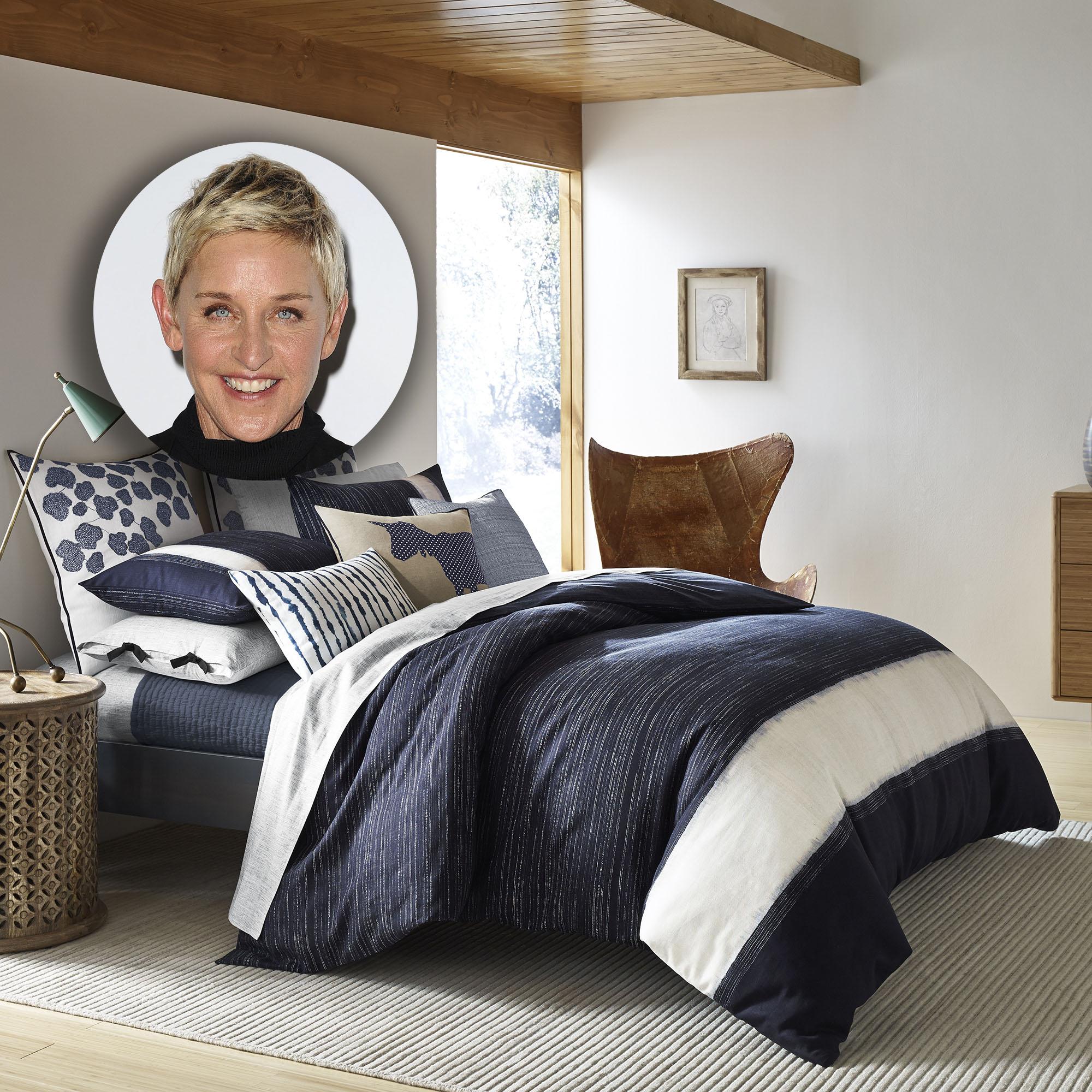 Ellen degeneres launches bed bath and beyond collection for Elle decoration bed linen
