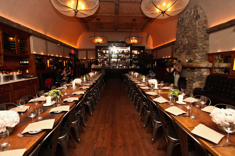 Locanda Verde is a casual corner restaurant in Tribeca, which features rustic Italian fare. Dishes include: English Pea Ravioli, Steamed Black Bass, a Foie Gras side dish and more.  Visit the Locanda Verde website here.
