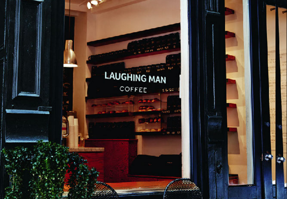 """Laughing Man is the trendy local coffee shop that we all want to have as our """"go-to"""" for a cup of joe. The story behind the shop is pretty cool: Hugh and his wife went to Ethiopia where they happened to befriend a local coffee farmer and that kickstarted the idea for the coffee shop, as well as The Laughing Man Foundation. The foundation focuses on helping local coffee farmers by focusing on entrepreneurship, community and education. All in all, this place has a great flat white (Hugh's fave) and also gives back to the people who grow your coffee so it's a win-win to stop by for a cup. P.S. If you can't get to New York, check out the Keurig website for The Laughing Man K-Cups.  Visit the Laughing Man website here."""