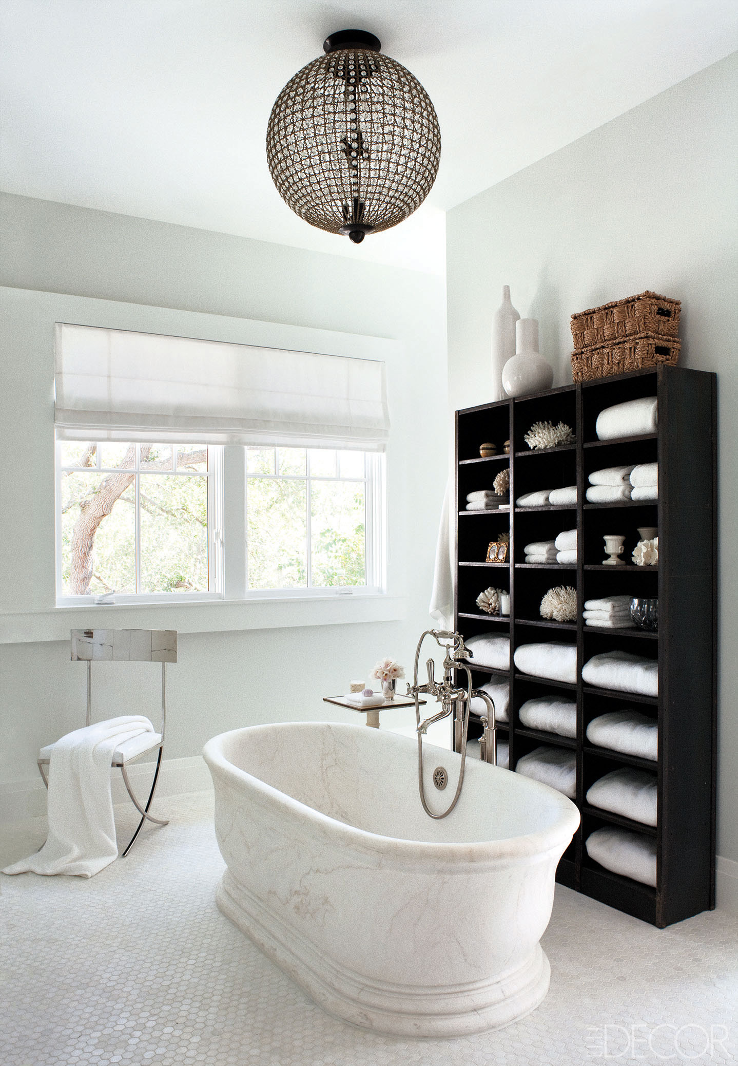 20 black and white bathroom decor design ideas