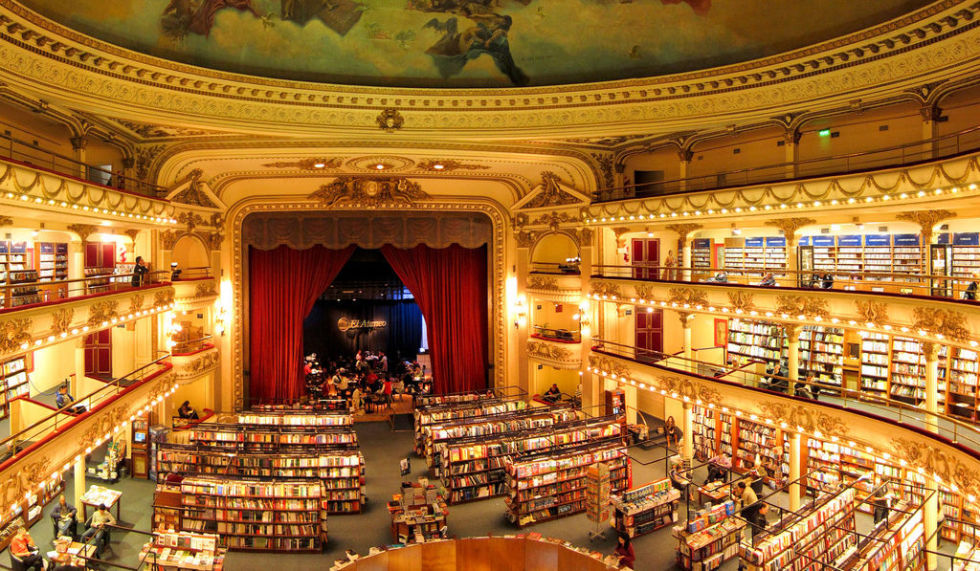 Once known as Teatro Gran Splendid, this incredible auditorium located in Buenos Aires, Argentina, was built as a theater in May 1919. Over 80 years later, in 2000, the building was transformed into El Ateneo Grand Splendid, a breathtaking book store bringing in millions of customers each year.