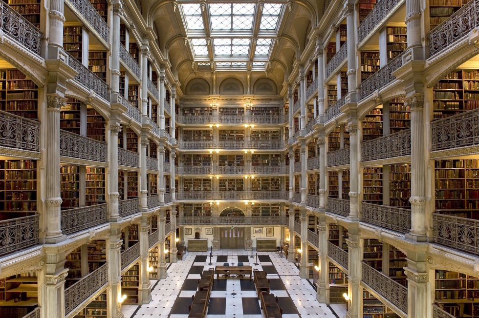 At Johns Hopkins University in Baltimore, Maryland, the George Peabody Library is more than just a few bookshelves. This 300,000-book library is known for its ornate five-story, Greek-revival interior — a space so breathtaking it's often used for wedding receptions. We imagine studying for finals isn't so bad when you have a table in this gorgeous space.