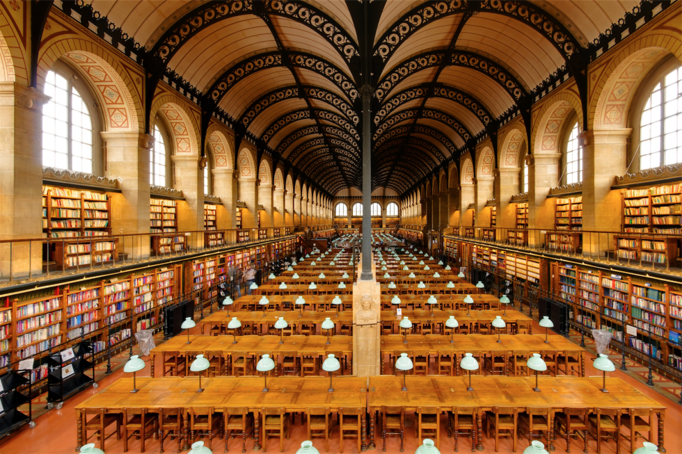 As if you needed another reason to visit, the Bibliothèque Sainte Geneviève in Paris, France, is the avid reader's dream come true. The library holds around two million documents, some dating back to the 13th century. It's only a short walk from the Notre Dame cathedral, so it's a must-see on your next trip to the City of Love.
