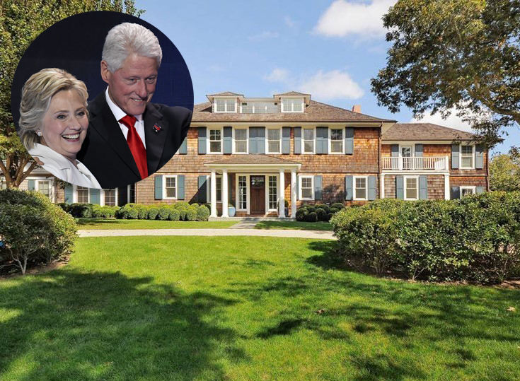 10 clinton hamptons real estate bill and hillary clinton summer