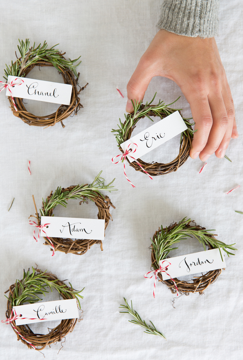 Holiday Decorating Ideas Place Cards