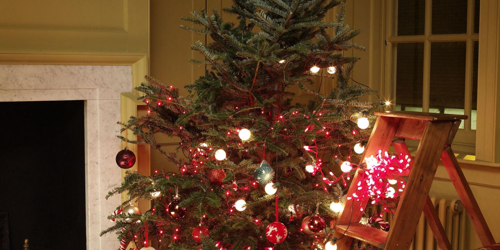 Half lit christmas tree decorations christmas tree lights for Elle decor christmas tree