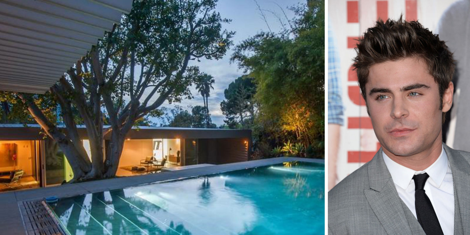 Zac Efron Hollywood Home Celebrity Homes For Sale