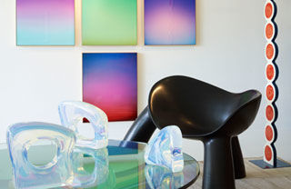 Blue, Colorfulness, Interior design, Glass, Purple, Teal, Paint, Aqua, Tints and shades, Still life photography,