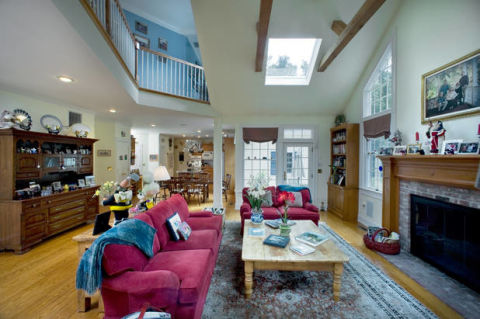 New england colonial before and after modern home makeover for Minimalism before and after