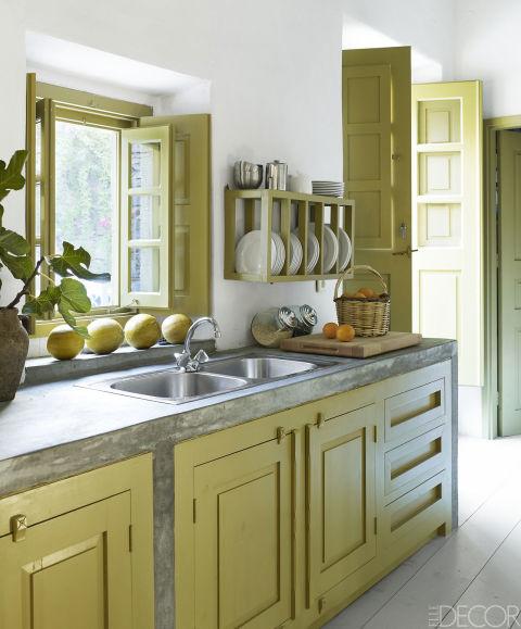Green Kitchen Countertops: 10 Green Kitchen Design Ideas