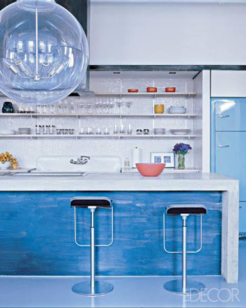 Blue Kitchen Ideas Decorations: Blue Walls & Decor Ideas For