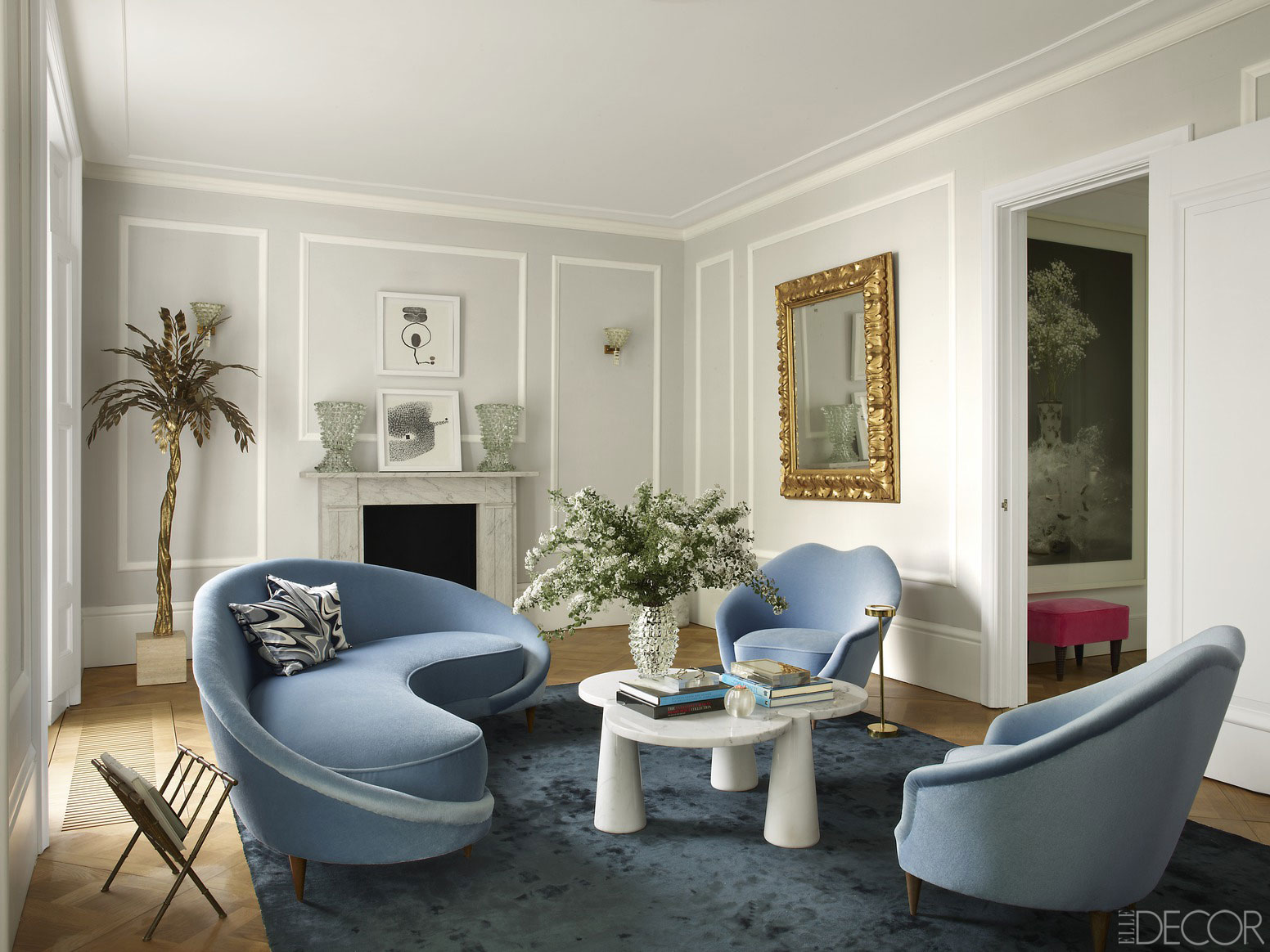 How to decorate around your favorite rug for Decorating townhouse living room ideas