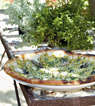 Party Recipes at PointClickHome.com – Oyster Pizza with ...
