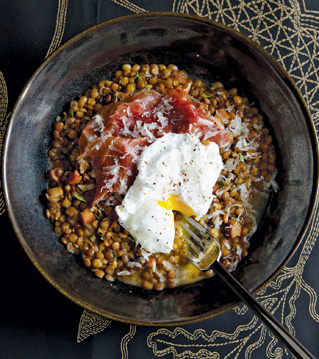 ... .com – Truffled Lentils with Poached Egg and Pata Negra Ham Recipe