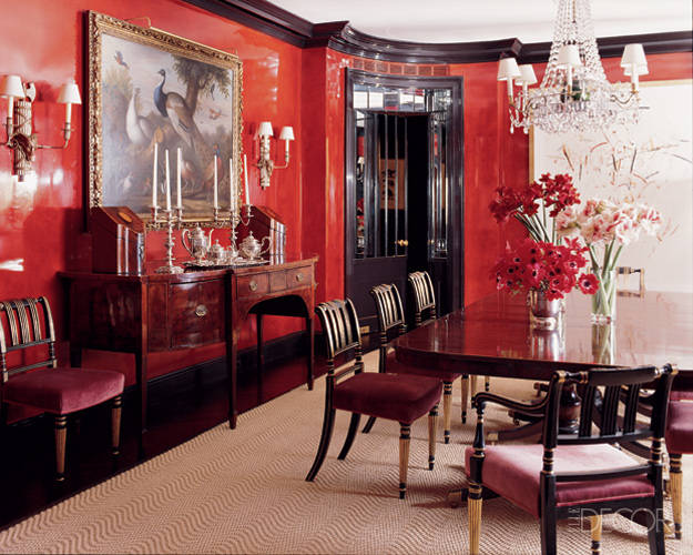 Red rooms decorating photos red room decor and ideas images for Red dining room designs