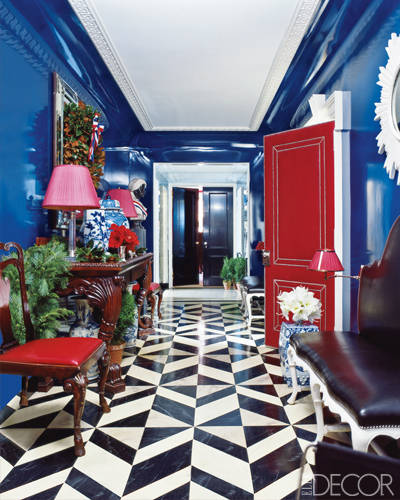 Painted Walls Colorful Room Design: Rooms With Lacquered Walls