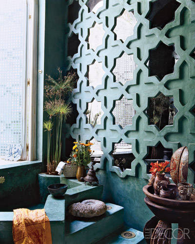 Ethiopian Crosses In Feb Mar Elle Decor: Liza Bruce Decorates An Eclectic Home In Morocco