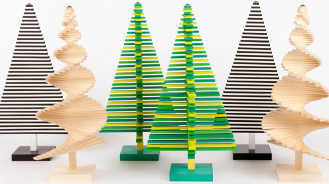 Modern christmas trees minimalist holiday decor for Elle decor christmas tree