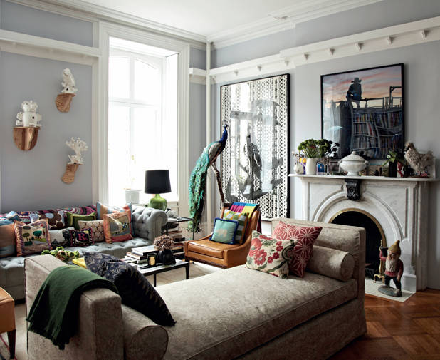 Decorating rules mismatched decor - House beautiful living room makeovers ...
